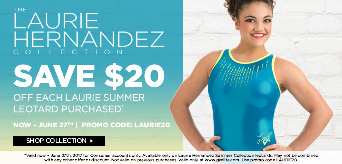 2017 Laurie Hernandez Save $20 on Summer Leos