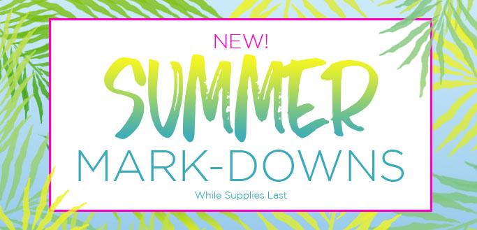 2017 Summer Mark-Downs