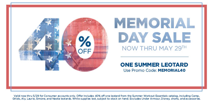 2017 Memorial Day Savings from GK Gymnastics