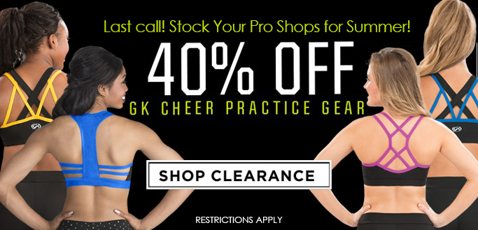 2018 Cheer Stock Your Pro Shops with GK Cheer