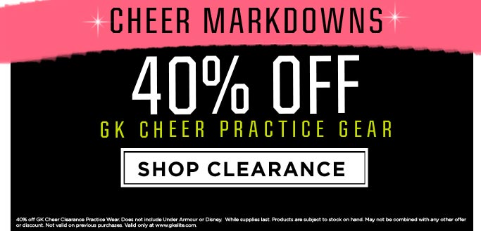 2018 Cheer Clearance