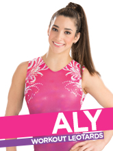 2017 Aly Raisman Spring Workout Essentials Gymnastics Leotards from GK Elite