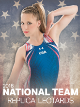 2016 National Team Replica Leotards from Under Armour Gymnastics