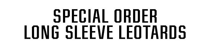 Women's Special Order Long Sleeve Gymnastics Leotards from GK Elite