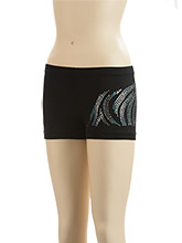 Zebra Sequinz Workout Shorts from GK Gymnastics