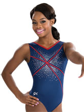 Sequinz Fireworks Practice Leotard from GK Gymnastics