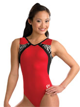 Red Zebra Training Leotard from GK Gymnastics