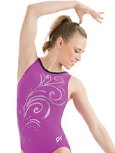 Whispering Swirl Gymnastics Leotard from GK Gymnastics