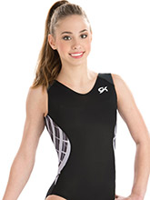 GymTek Black Interlock Leotard from GK Elite