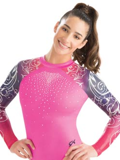 9ae2d08f87535c High neck Knockout Sublimated Leotard from GK Elite