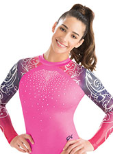 High neck Knockout Sublimated Leotard from GK Gymnastics