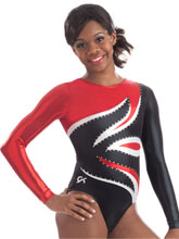 Stunning Flame Long Sleeve Leotard from GK Gymnastics