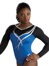 Royal Ribbon Long Sleeve Leotard from GK Gymnastics