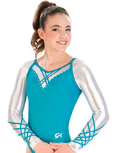Raglan Lattice Competition Leotard from GK Gymnastics