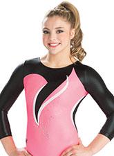 Coral Rhythm 3/4 Sleeve Leotard from GK Gymnastics