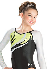 Lemon Lime Flare Competitive Leo from GK Gymnastics