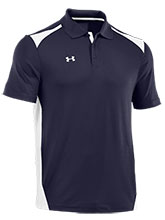 UA Men's Navy Colorblock Polo from Under Armour Gymnastics
