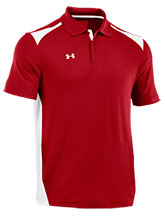 UA Men's Red Colorblock Polo from Under Armour Gymnastics