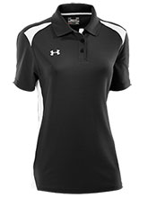 UA Women's Black Colorblock Polo from Under Armour Gymnastics