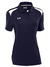 UA Women's Navy Colorblock Polo from Under Armour Gymnastics