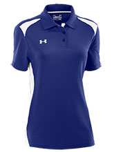 UA Women's Blue Colorblock Polo from Under Armour Gymnastics
