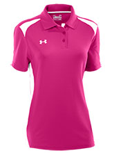 UA Womens Pink Colorblock Polo from Under Armour