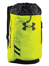 UA Hi-Vis Yellow Trance Sackpack from Under Armour Gymnastics
