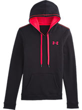 Womens UA Black Rival Cotton Hoody from Under Armour Gymnastics