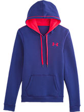 Womens UA Purple Rival Cotton Hoody from Under Armour Gymnastics