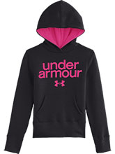 Girls UA Black Impulse Cotton Hoody from Under Armour Gymnastics
