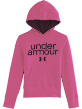 Girls UA Pink Impulse Cotton Hoody from Under Armour