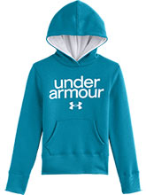 Girls UA Teal Impulse Cotton Hoody from Under Armour Gymnastics