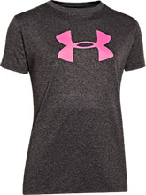 Girls UA Carbon & Chaos Logo Tee from Under Armour Gymnastics