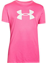 Girls UA Chaos & White Logo Tee from Under Armour Gymnastics