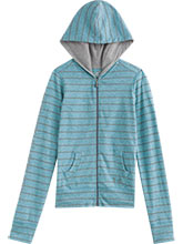 Girls UA Teal & Steel Full Zip Hoody from Under Armour Gymnastics