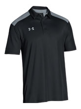 UA Men's Black Colorblock Polo from Under Armour