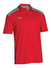 UA Men's Red Colorblock Polo from Under Armour