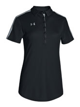 UA Women's Black Colorblock Polo from Under Armour