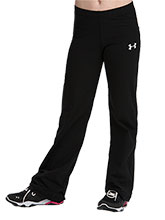 UA Women's Black Drytech Fitted Pants from Under Armour Gymnastics