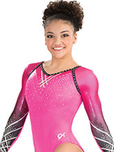 Raglan Lattice Sublimated Leotard from GK Gymnastics