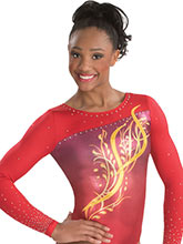 Feathered Frenzy Sublimated Leotard from GK Gymnastics