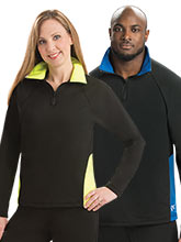 Curved Pullover Relaxed Fit Jacket with Piping from GK Elite