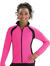 Sporty Spade Fitted Warm-Up Jacket from GK Gymnastics