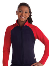 Two Toned Fitted Warm-Up Jacket from GK Gymnastics