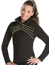 Fine Line Fitted Warm-Up Jacket from GK Gymnastics