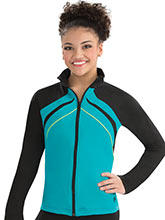 Side Profile Fitted Warm-Up Jacket from GK Gymnastics