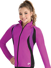 Side Swirl Warm-Up Jacket from GK Gymnastics