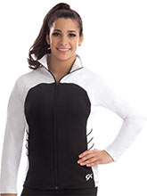 Fitted Color Block Warm-Up Jacket from GK Gymnastics