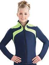 Ribbon Topped Warm-Up Jacket from GK Gymnastics