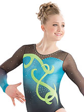 Swirled Sweetheart Sublimated Leotard from GK Gymnastics